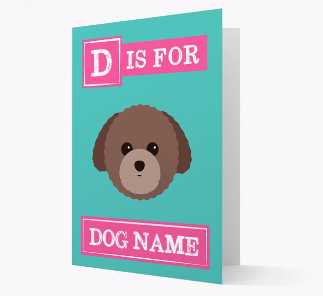 'Letter and Name' Card for your Toy Poodle