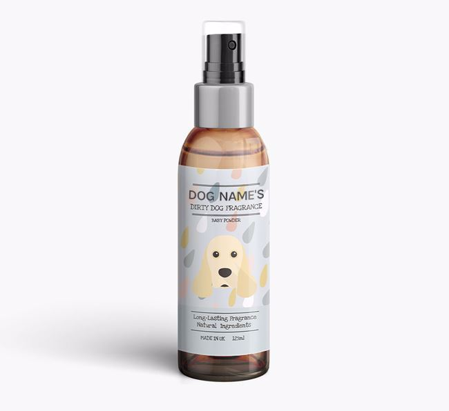 Personalised 'Dirty Dog' Fragrance for your American Cocker Spaniel
