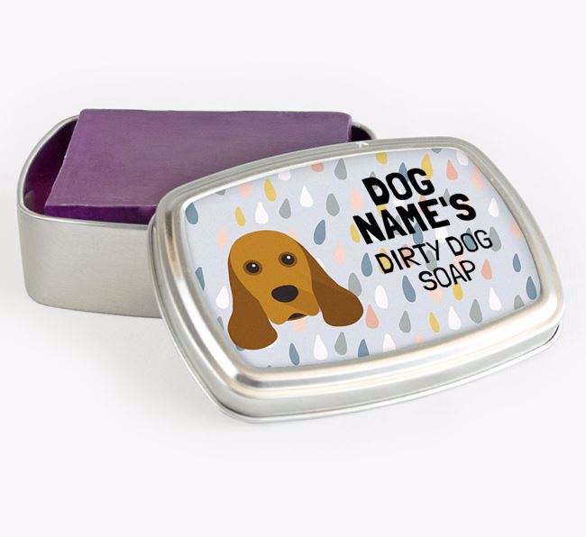 Personalised 'Dirty Dog' Soap Tin for your American Cocker Spaniel
