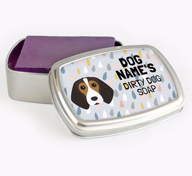 Personalised 'Dirty Dog' Soap Tin for your Beagle