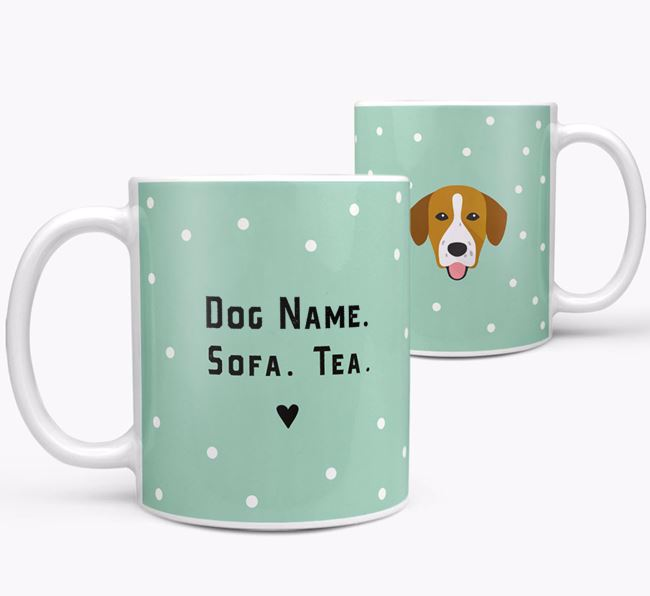 Personalised 'Sofa & Tea' Mug for your Springador