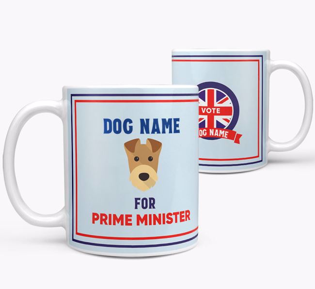 Personalised 'Prime Minister' Mug for your Airedale Terrier