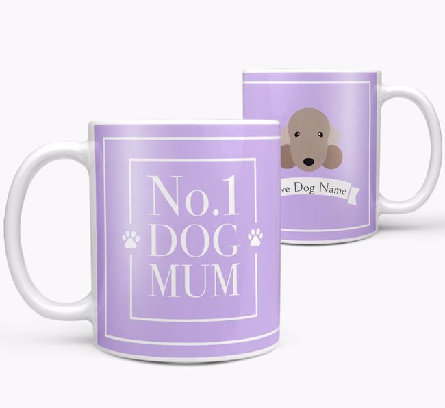 Personalised 'No.1 Mum' Mug from your Bedlington Terrier