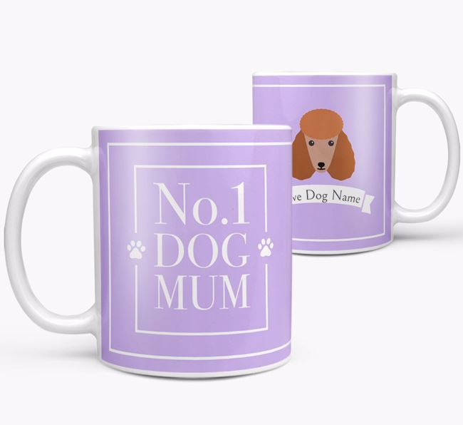 Personalised 'No.1 Mum' Mug from your Poodle