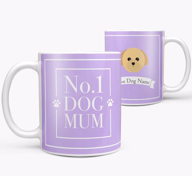 Personalised 'No.1 Mum' Mug from your Toy Poodle