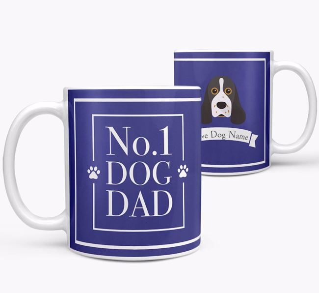 Personalised 'No.1 Dad' Mug from your American Cocker Spaniel