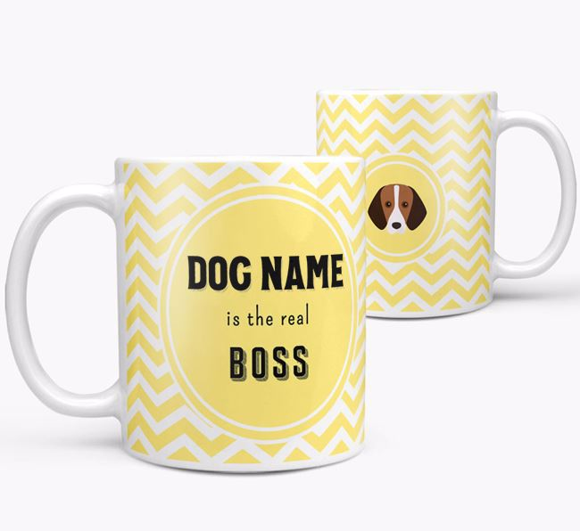 Personalised 'Real Boss' Mug with Foxhound Icon