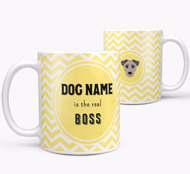 Personalised 'Real Boss' Mug with Jack-A-Poo Icon