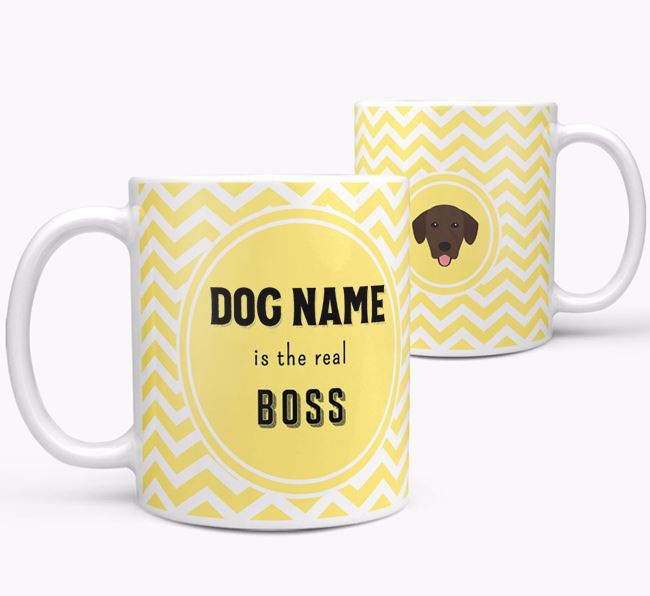 Personalised 'Real Boss' Mug with Springador Icon