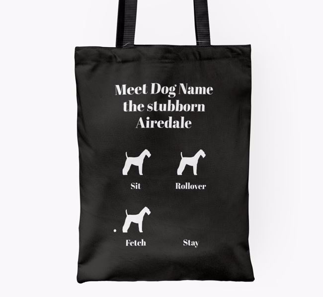 'Meet  the stubborn Airedale' Shopper Bag