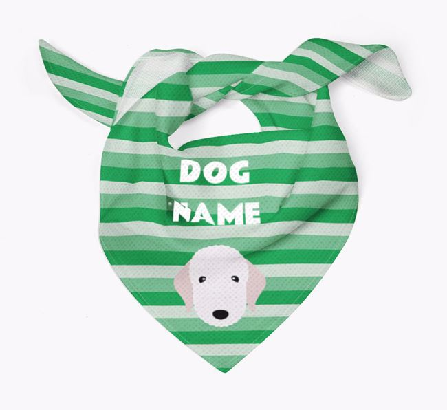 Personalised 'Stripes' Bandana for your Bedlington Terrier