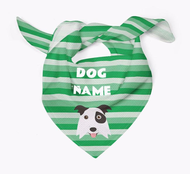 Personalised 'Stripes' Bandana for your Border Collie
