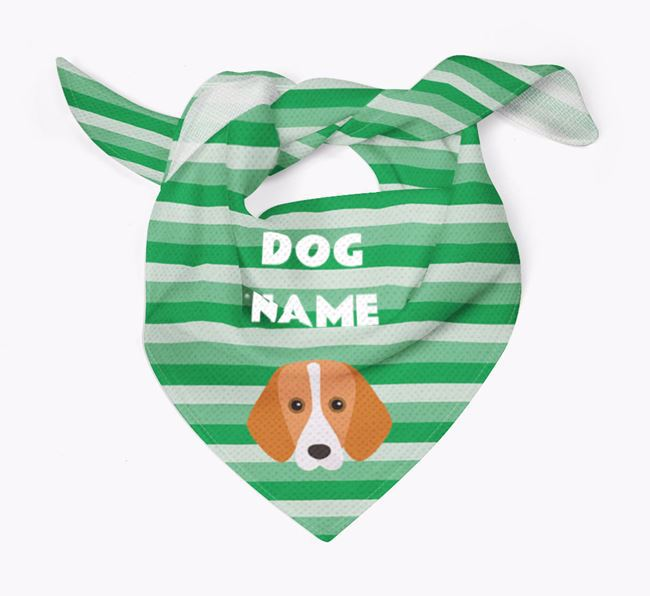 Personalised 'Stripes' Bandana for your Foxhound