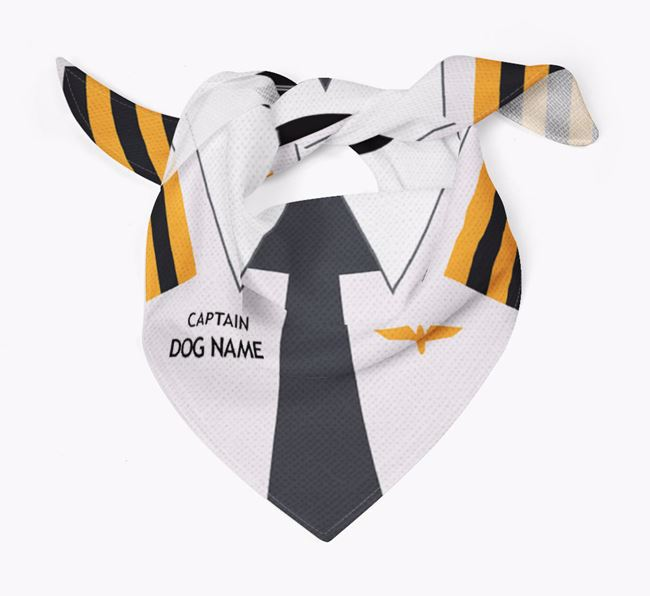 Personalised 'Captain ' Dog Bandana for your Border Collie