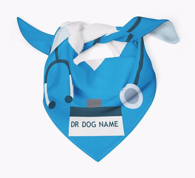 Personalised 'Doctor' Dog Bandana for your Bedlington Terrier