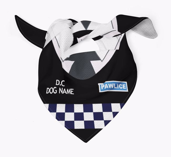 Personalised 'Paw-lice' Dog Bandana for your Foxhound
