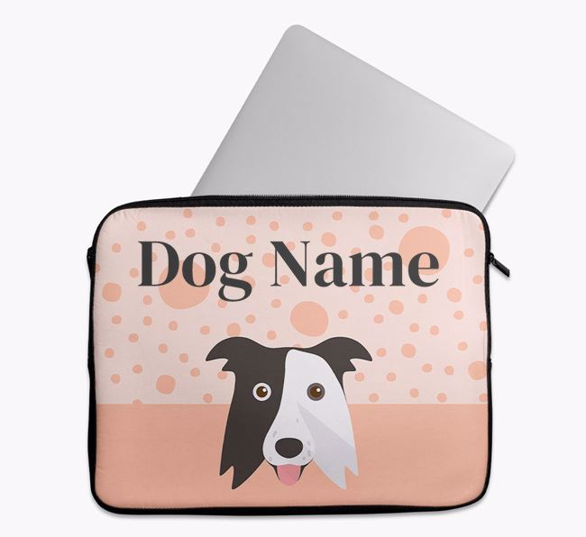 Personalised Tech Pouch with Border Collie Icon