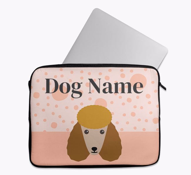Personalised Tech Pouch with Poodle Icon
