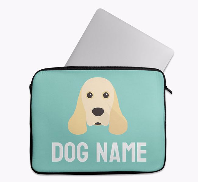 Personalised Bright & Bold Tech Pouch with American Cocker Spaniel Icon