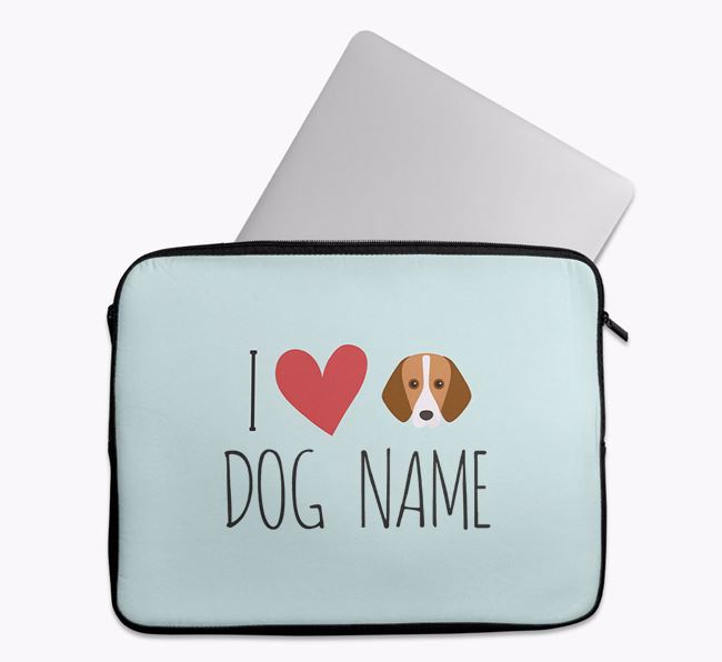 Personalised 'I Heart ' Tech Pouch with Foxhound Icon