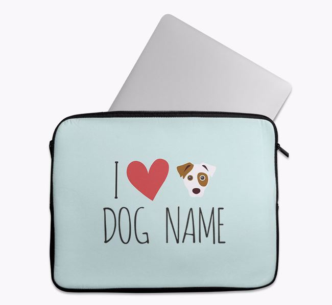 Personalised 'I Heart ' Tech Pouch with Dog Icon