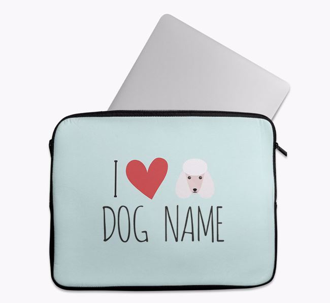 Personalised 'I Heart ' Tech Pouch with Poodle Icon