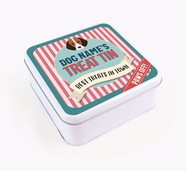 'Best Treats in Town' Square Tin for your Foxhound