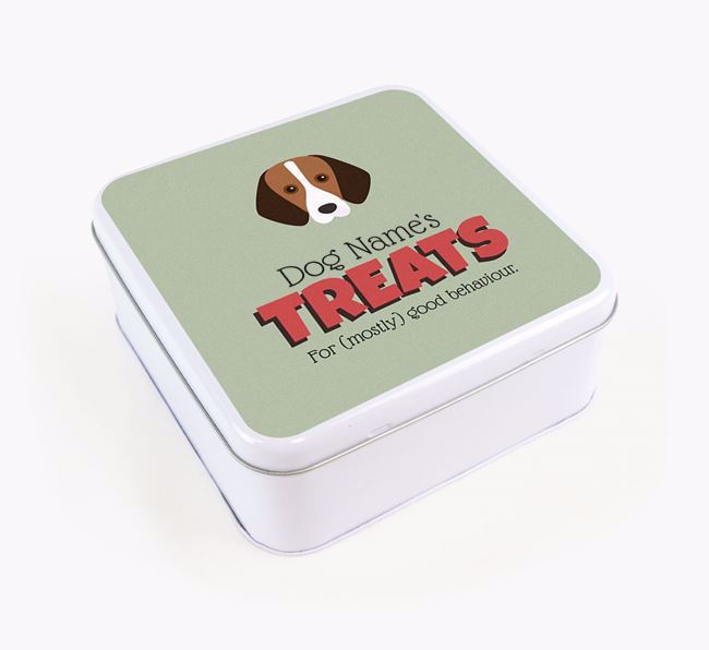 Personalised Retro Design Square Tin for your Foxhound