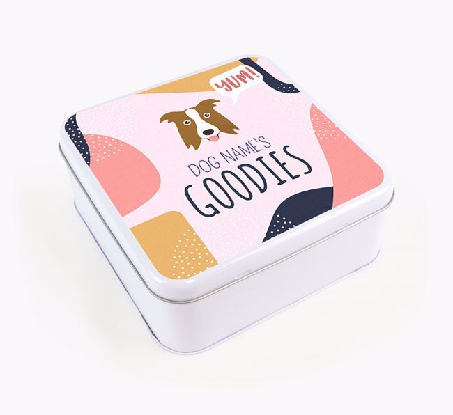Square Tin for Border Collie's Goodies