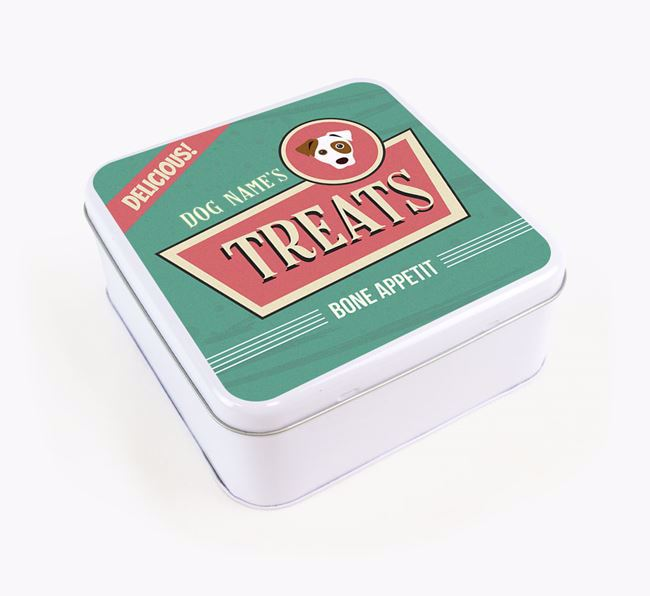 Personalised Retro Square Tin for your Dog