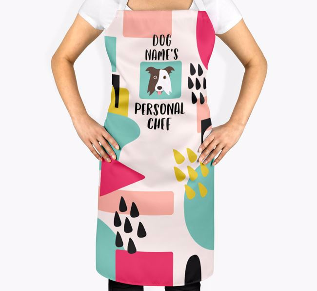''s Personal Chef' Adult Apron with Border Collie Icon