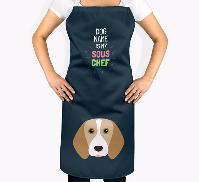 ' is my Sous Chef' Apron with Beagle Icon