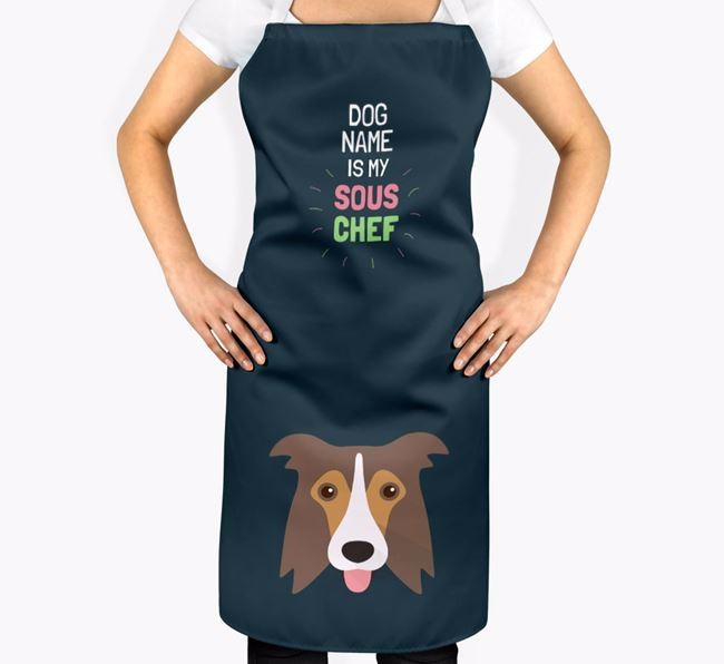 ' is my Sous Chef' Apron with Border Collie Icon