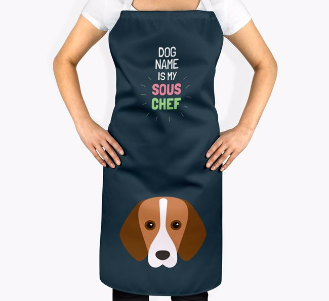 ' is my Sous Chef' Apron with Foxhound Icon