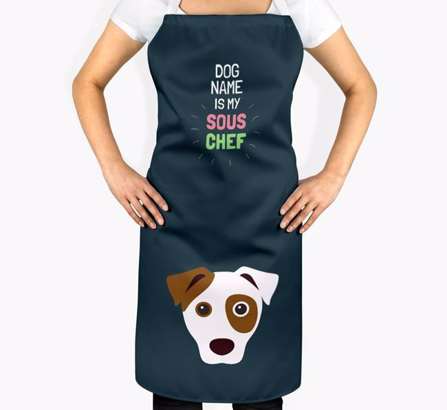 ' is my Sous Chef' Apron with Dog Icon